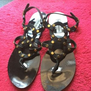 Steve Madden leather studded sandals